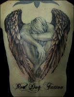 Back angel by Reddogtattoo