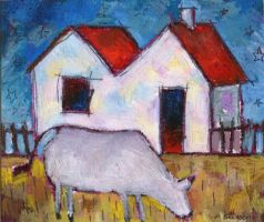 Cow in Front Yard - Tiny by usartdude