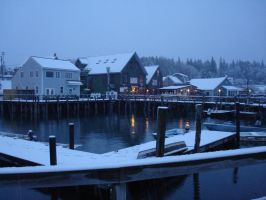 Port Clyde Village, Candlemas Morning by mirengraphics