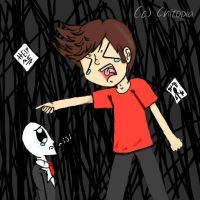 .::GO AWAY SLENDER!!::. by Chitopia