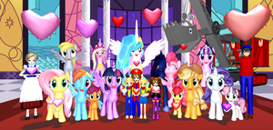 Happy Hearts/Hooves Day From The Railway Family! by Mario-McFly