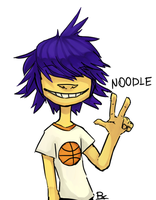 the doodle of Noodle by ERIXhellbread