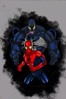 venom vs spiderman by wolverineofcomixvn