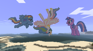 Minecraft: Rainbow's Folly by LotusFlowerful