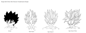 Mat DBZ Ensor Hair Designs by LilRwar