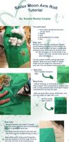Sailor Moon Rolled Sleeves Tutorial by HoodedWoman