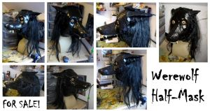 Werewolf Half-Mask - FOR SALE by CuriousCreatures