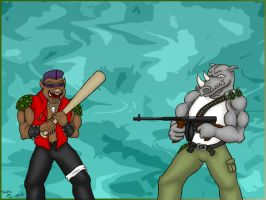 Bebop and rocksteady by somechick73