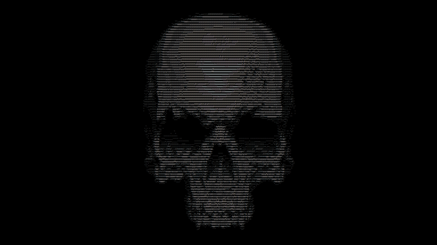 ASCII SKULL by NeverMoreXIII