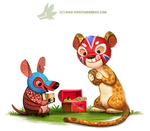 Daily Paint 1306. Lunchadors by Cryptid-Creations