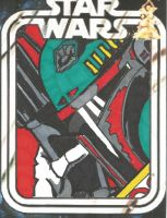 Boba Fett Sketch card by HooliganAlley