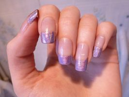 Holographic french manicure by Syntheta-NZ