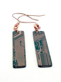 Circuit Board Earrings - 9 by jupiter-storm