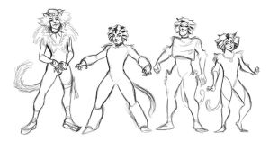 Cats WIP by s0alaina