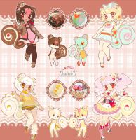 [Adopts] Squirroll: Hearts n' Dots batch [CLOSED] by Desiree-U