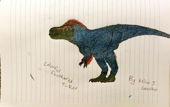 Colorful Feathered Tyrannosaurus  by PaleoArtKing