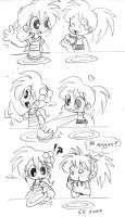 Stealing burger by Coffgirl
