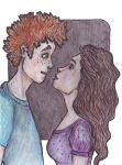 Ron and Hermione by MagDa-LeNaa