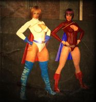 power woman  and  power lass by PepperLord