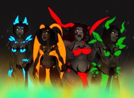 Daemonology Line Up by dawnbest