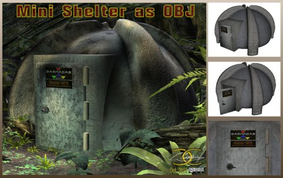 Mini Shelter as OBJ by ancestorsrelic