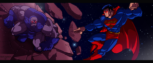 Superman v.s. Darkseid by Misterho