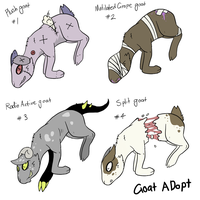 Goat Point Adopts [1/4] by Smudgeful-Thinking