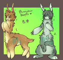 Adoptable: Bunnytaurs by Morthern