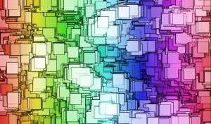 rainbow squares wallpaper by nicolecat1