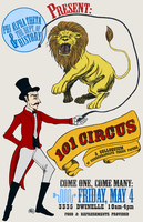 101 Circus poster by monkette