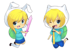 AT - Finn and Fionna by Tuliblu