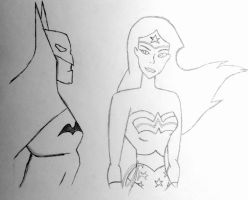 Batman and Wonder Woman by shahchirag1709