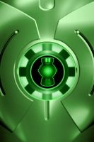 Iron Man Green Lantern Armor Chest background by KalEl7