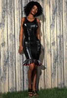Tight Black Leather Dress by xmas-kitty