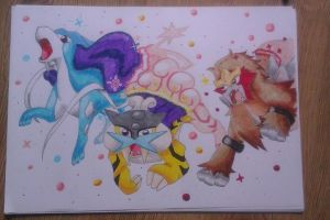 Suicune, Raikou and Entei by ZeroTheBeast