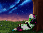 Under the Night Sky with You by Animehaveallthefun