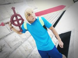 Finn The Human Cosplay - Adventure Time by andyblackstar
