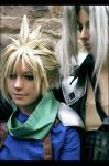 Cloud and Sephiroth - sympathy by Maryru