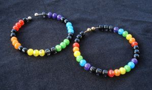 Rainbow Bracelets by RebelATS