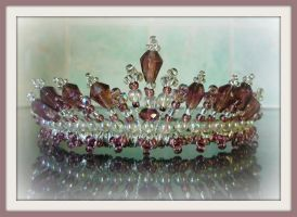 faux amethyst, silver tiara by tindink
