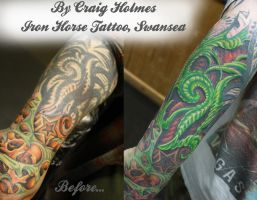 Colour Biomechanical cover up tattoo Craig Holmes by CraigHolmesTattoo