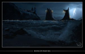 Ruins Of DeadSea-MattePainting by danishsaeed