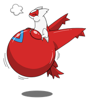 Latias Balloon by TheGuyNoOneRemembers