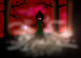 Flatwoods Monster on the hunt by DarthDrakkara