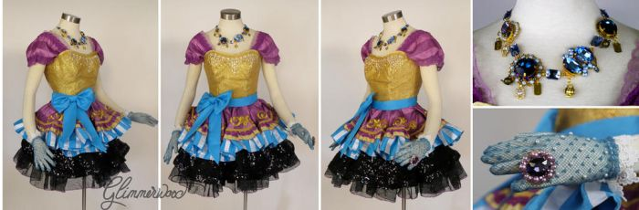 Madeline Hatter Cosplay Costume Dress and Jewelry by glimmerwood