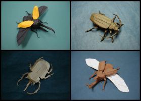 Origami Beetles by origami-artist-galen