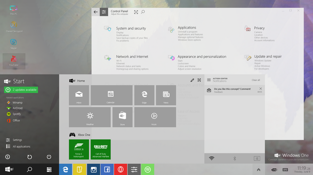 Windows One Concept by danielskrzypon