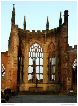 Coventry Old Cathedral II by In-the-picture