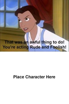 Belle's Angry at Who? meme by Uranimated18