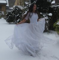 White dress in Snow Stock 9 by NaomiFan